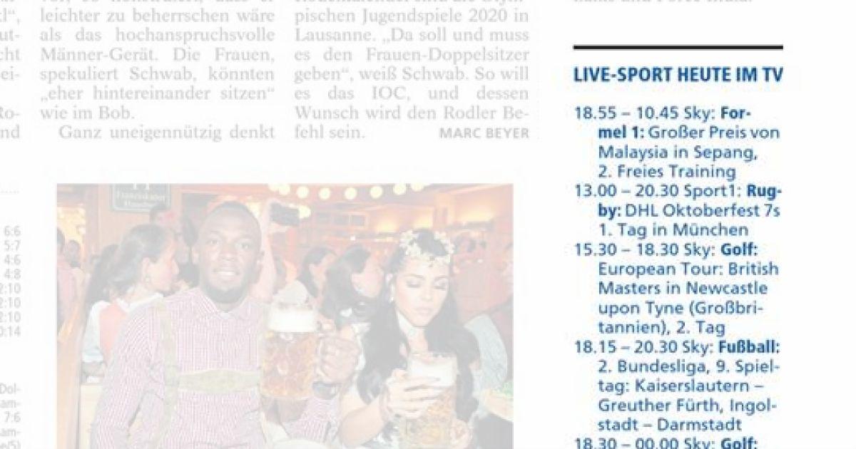 LIVE-SPORT HEUTE IM TV - OVB Heimatzeitungen