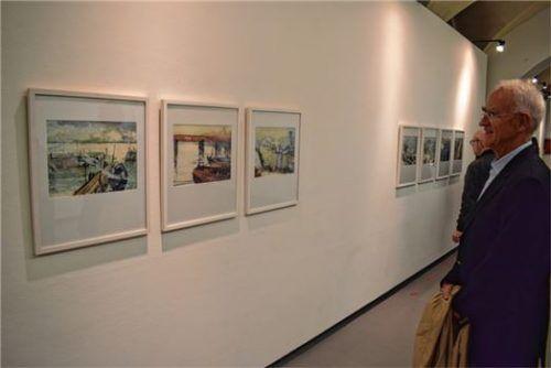 Die Aquarelle von Maximilian Schmetterer zeigen Motive, die sonst oft übersehen werden. Fotos Breitfuss