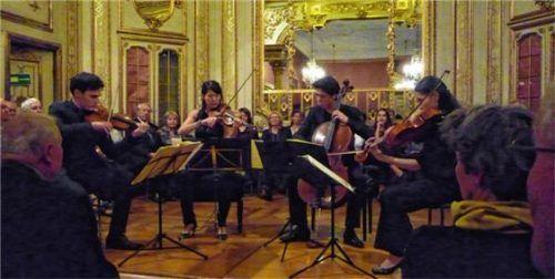 Quatuor Hermès spielte Stücke von Haydn, Pärt und Schubert. Foto füchtner