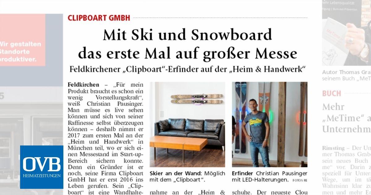 mit ski und snowboard das erste mal auf gro er messe ovb heimatzeitungen. Black Bedroom Furniture Sets. Home Design Ideas