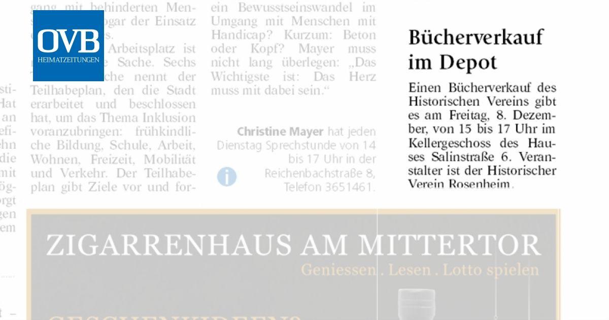 Bücherverkauf Im Depot Ovb Heimatzeitungen