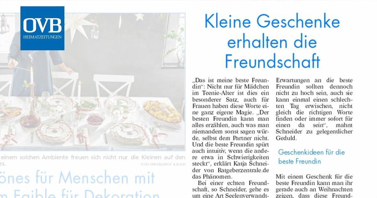 Kleine Geschenke Erhalten Die Freundschaft Ovb Heimatzeitungen