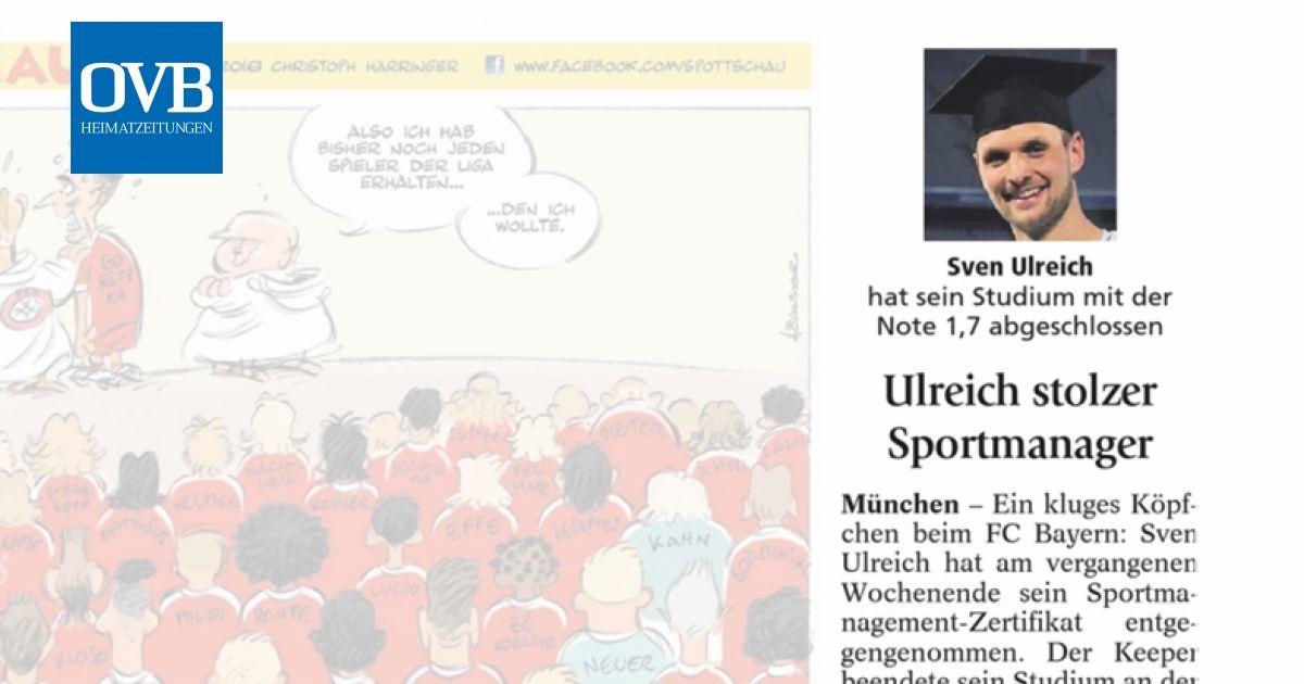 Ulreich stolzer Sportmanager - OVB Heimatzeitungen