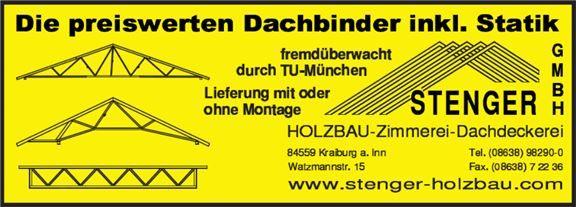 Stenger Holzbau hägar der schreckliche ovb heimatzeitungen