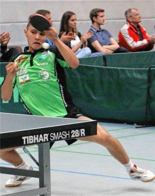 Ersatzspieler Matjaz Pinter hatte beidem Sieg im zweiten Einzeldurchgang großen Anteil daran, dass der SBR auswärts einen knappen Erfolg feiern konnte.Foto Erlich