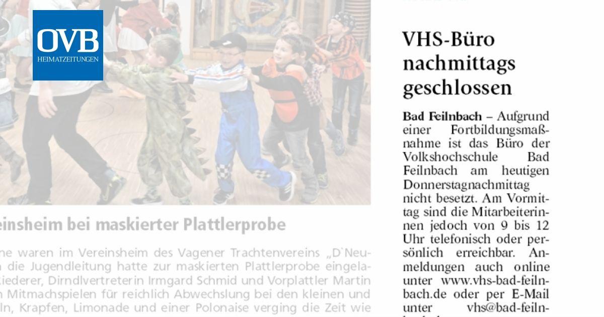 Vhs Buro Nachmittags Geschlossen Ovb Heimatzeitungen