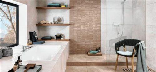 Keramische Fliesen in Steinoptik verleihen dem Bad einen individuellen Charakter. Foto epr/V&B Fliesen GmbH