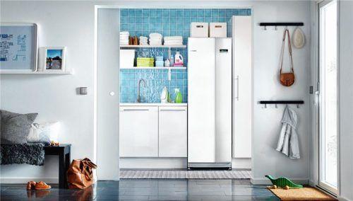 Luft-Wasser-Wärmepumpen können auch an sehr kalten Tagen der Umgebungsluft so viel Energie entziehen, dass damit ein Einfamilienhaus beheizt werden kann. Foto tdx/Nibe