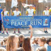 Läufer für den Frieden in Schnaitsee