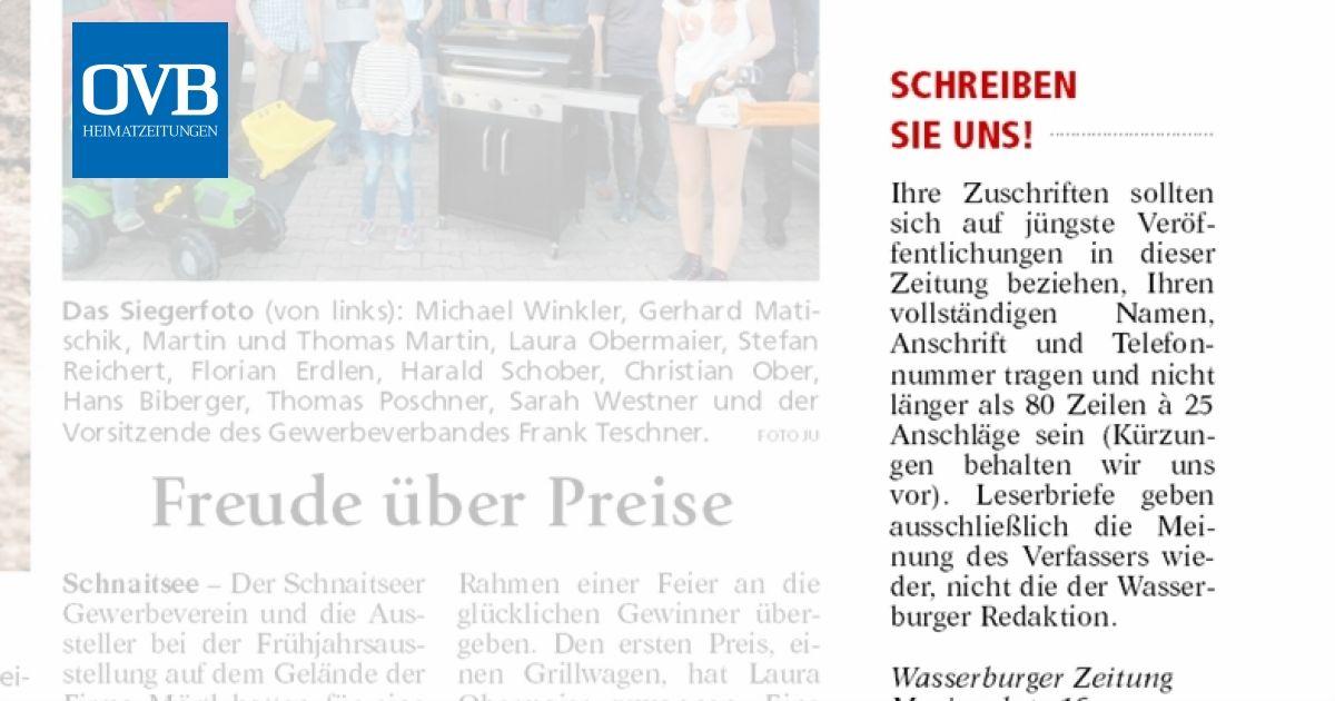 Schreiben sie Uns! - OVB Heimatzeitungen