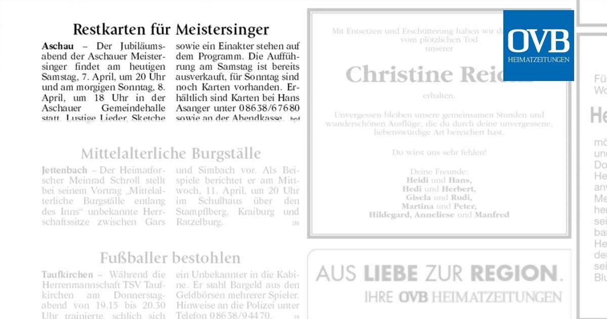 Restkarten Für Meistersinger Ovb Heimatzeitungen