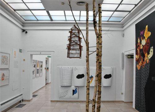 Atmosphäre, Emotionen, Interpretationen: Die Galerie bietet mit ihren Ausstellungen ein weites Betätigungsfeld für Besucher und Kunstschaffende.Fotos  Schlecker