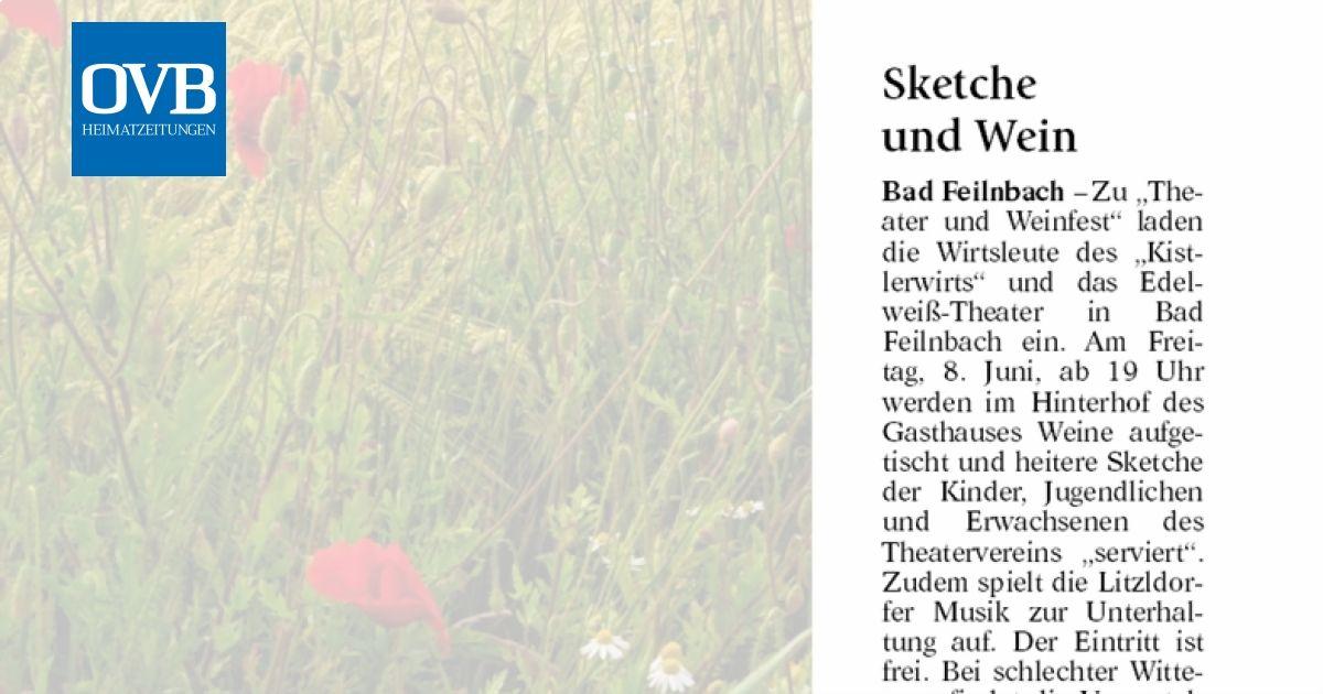 Sketche und Wein - OVB Heimatzeitungen