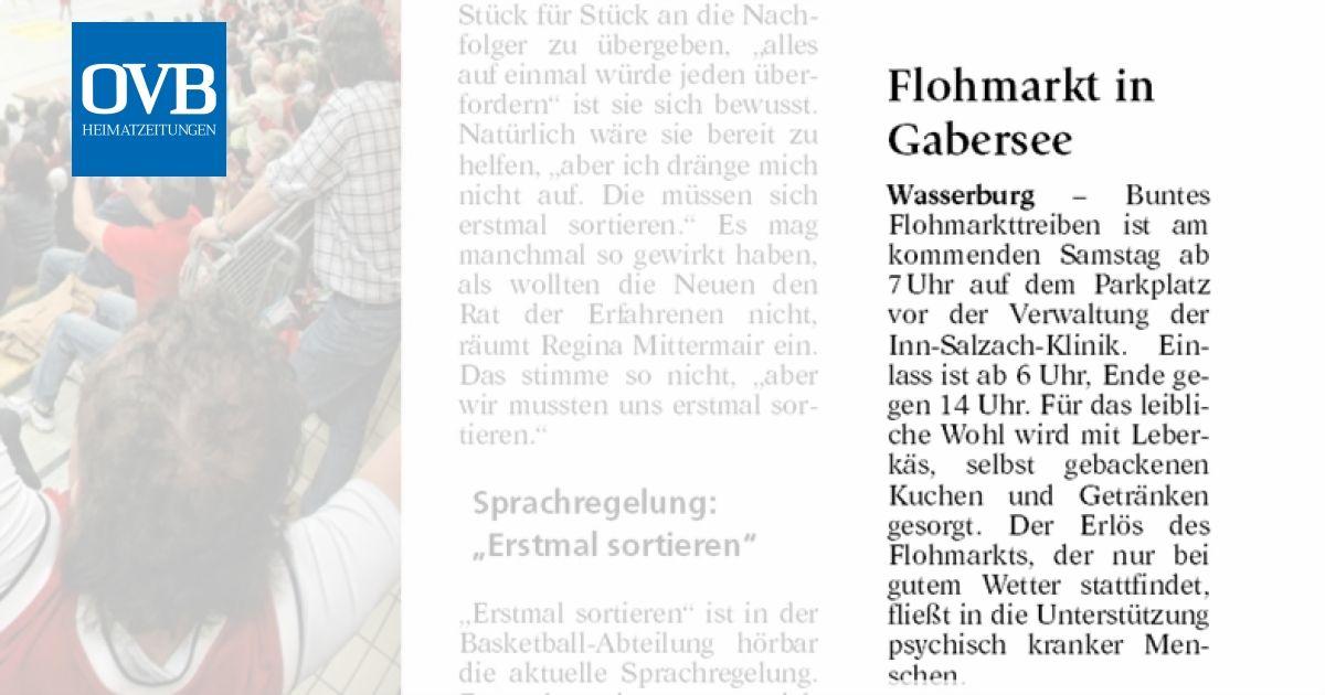 Flohmarkt In Gabersee Ovb Heimatzeitungen