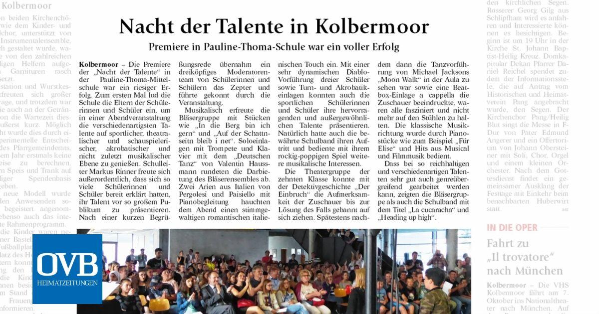 Nacht Der Talente In Kolbermoor Ovb Heimatzeitungen