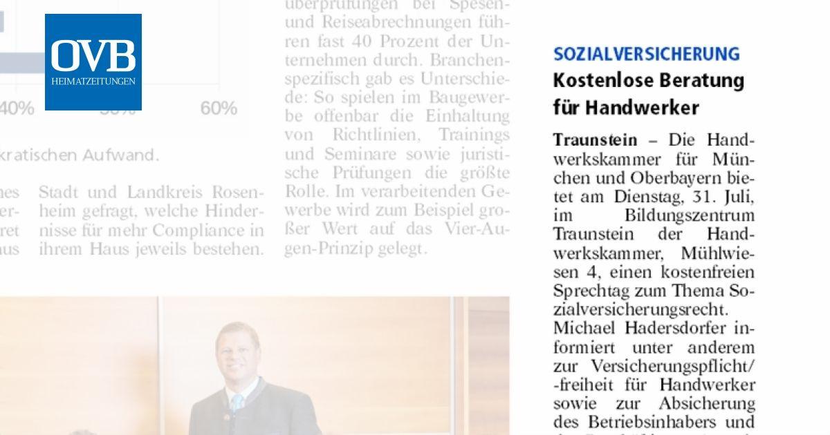 Kostenlose Beratung für Handwerker - OVB Heimatzeitungen