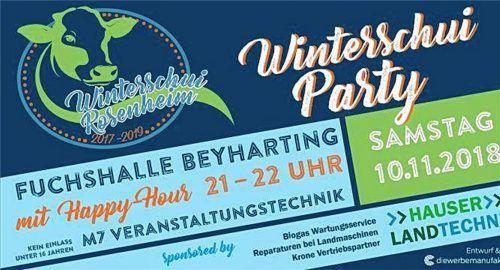 Mit diesem Plakat werben die Landwirtschaftsschüler heuer für die Party. Der Kuhkopf in Kombination mit dem Begriff Winterschui ist Stein des Anstoßes. Hartmann
