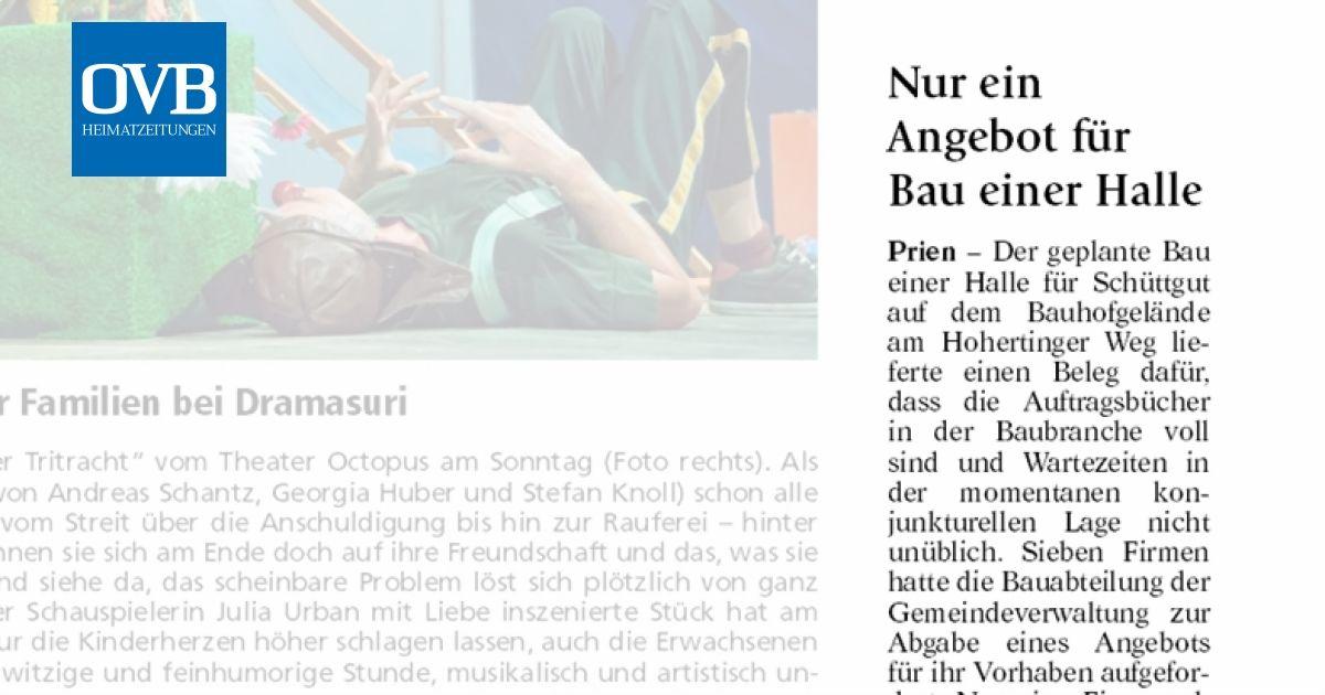Nur Ein Angebot Für Bau Einer Halle Ovb Heimatzeitungen