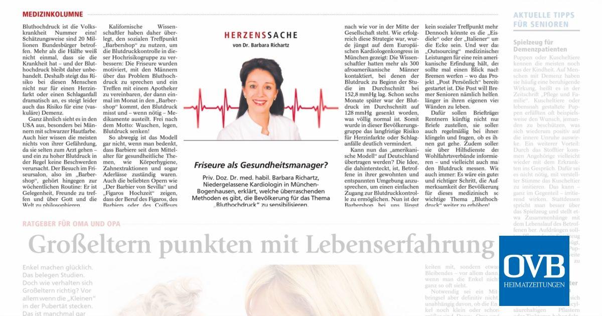 Friseure als Gesundheitsmanager? - OVB Heimatzeitungen