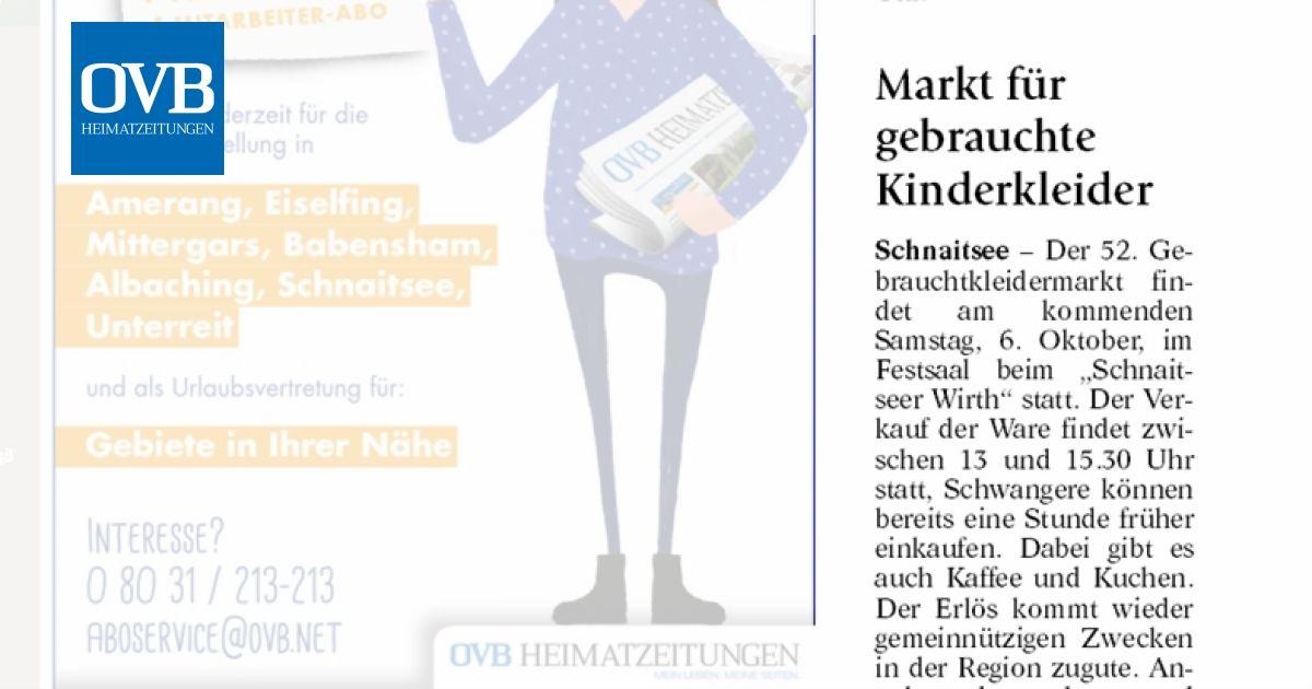 new concept f0cfc fe506 Markt für gebrauchte Kinderkleider - OVB Heimatzeitungen