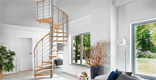 Eine Spindeltreppe ist eine clevere Erfindung, um zwei Ebenen auf platzsparende Weise miteinander zu verbinden. Foto  epr/Treppen Intercon