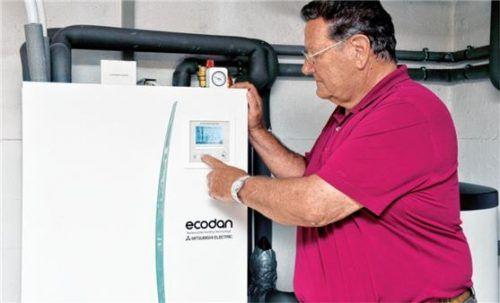 Luft/Wasser-Wärmepumpen sollten auch bei Minusgraden genügend Heizleistung liefern.Foto epr/Mitsubishi Electric