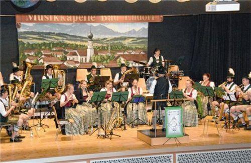 Mit einem Doppelkonzert hat die Musikkapelle Bad Endorf die musikalische Saison beendet. Fotos amf