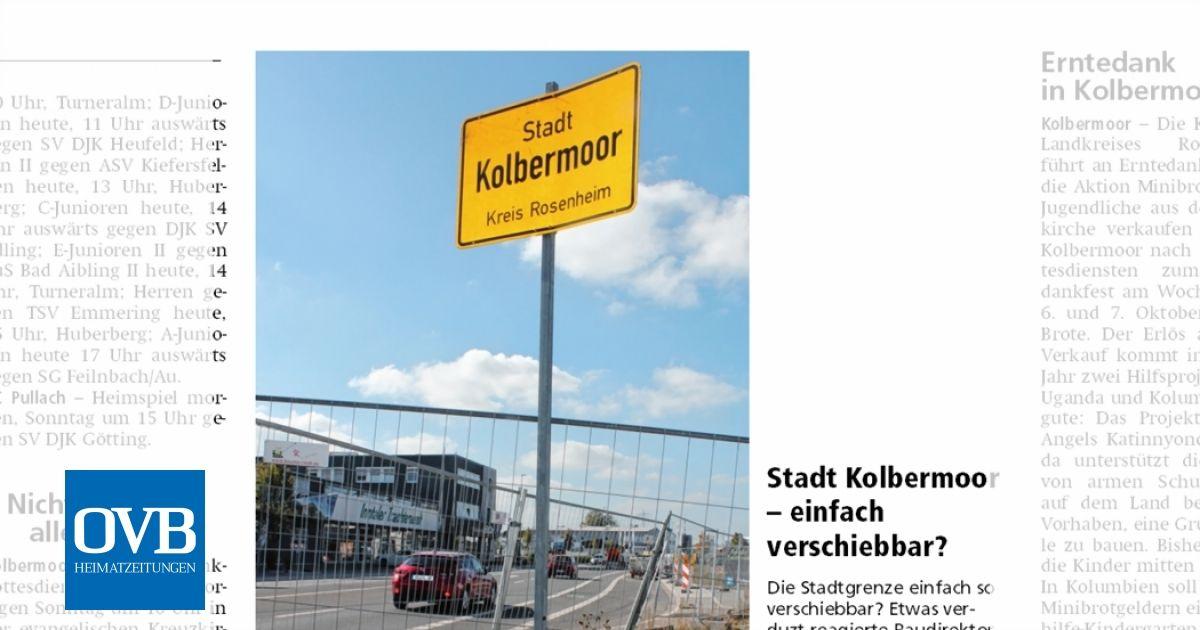 Stadt Kolbermoor Einfach Verschiebbar Ovb Heimatzeitungen