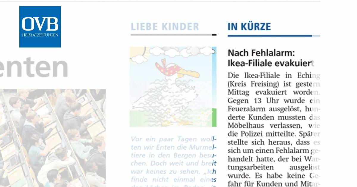 Nach Fehlalarm Ikea Filiale Evakuiert Ovb Heimatzeitungen