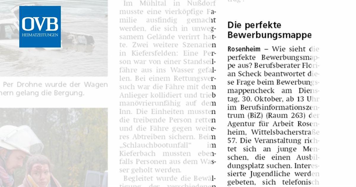 Die Perfekte Bewerbungsmappe Ovb Heimatzeitungen