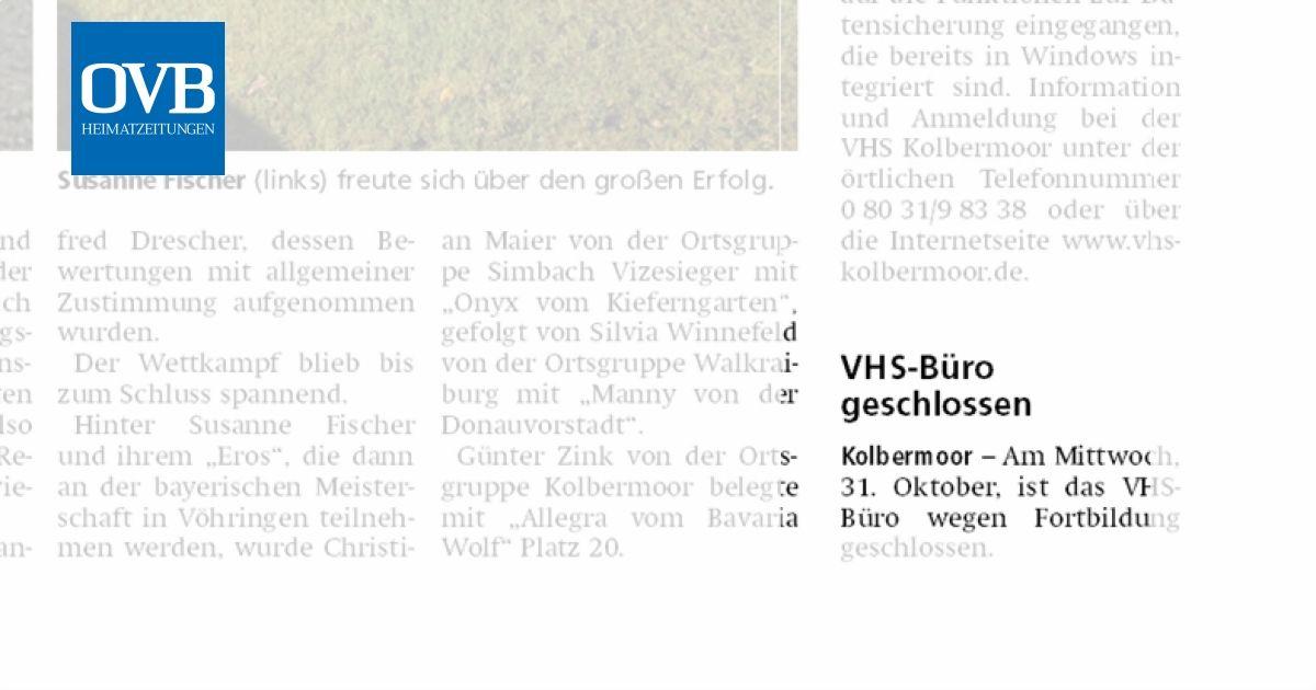 Vhs Buro Geschlossen Ovb Heimatzeitungen