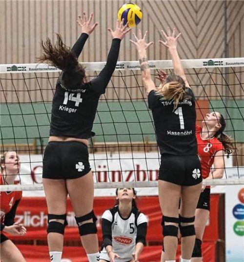 Die Eiselfinger Volleyballdamen setzen im Heimspiel am Samstag auf ihre gute Abwehrarbeit.