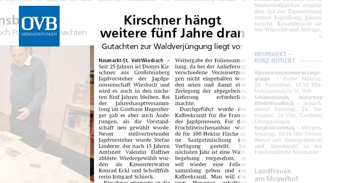 Kirschner hängt weitere fünf Jahre dran - OVB Heimatzeitungen