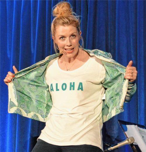 """""""Aloha heißt nicht aloa"""": Christine Eixenberger begeistert mit """"Fingerspitzenlösung"""" im Gasthaus Höhensteiger. Foto Sieberath"""