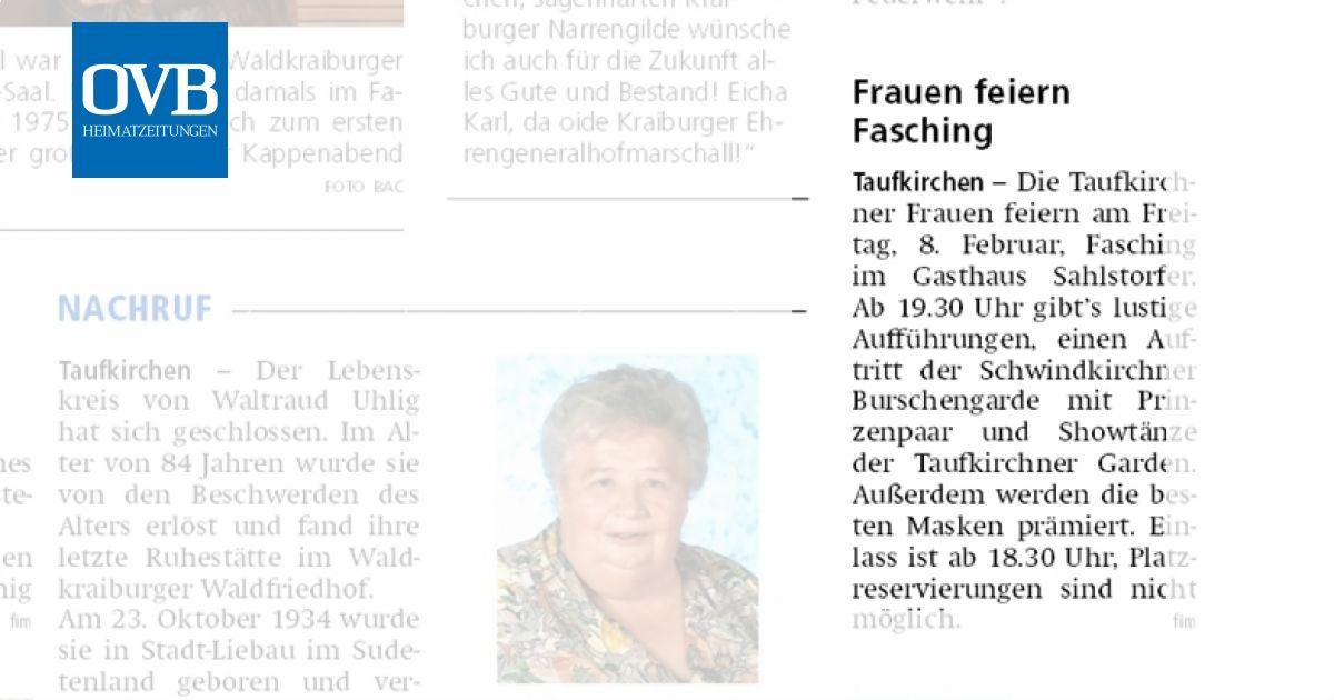 Frauen Feiern Fasching Ovb Heimatzeitungen