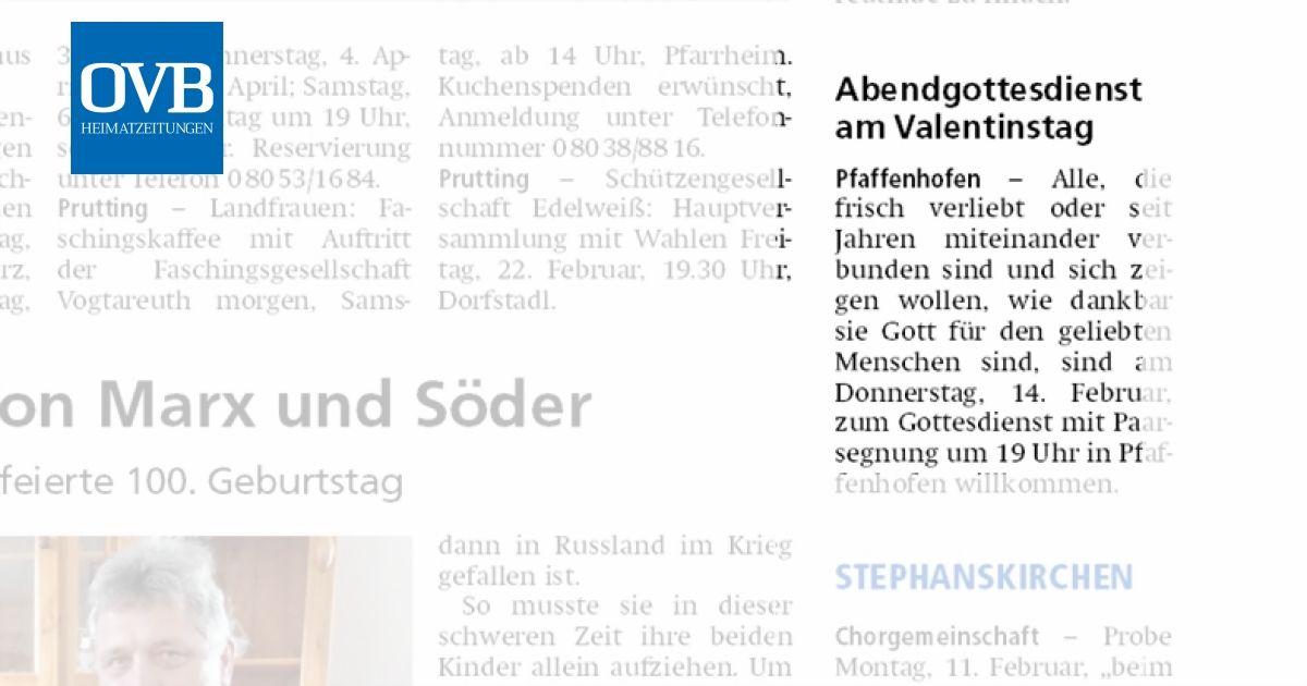 Abendgottesdienst Am Valentinstag Ovb Heimatzeitungen