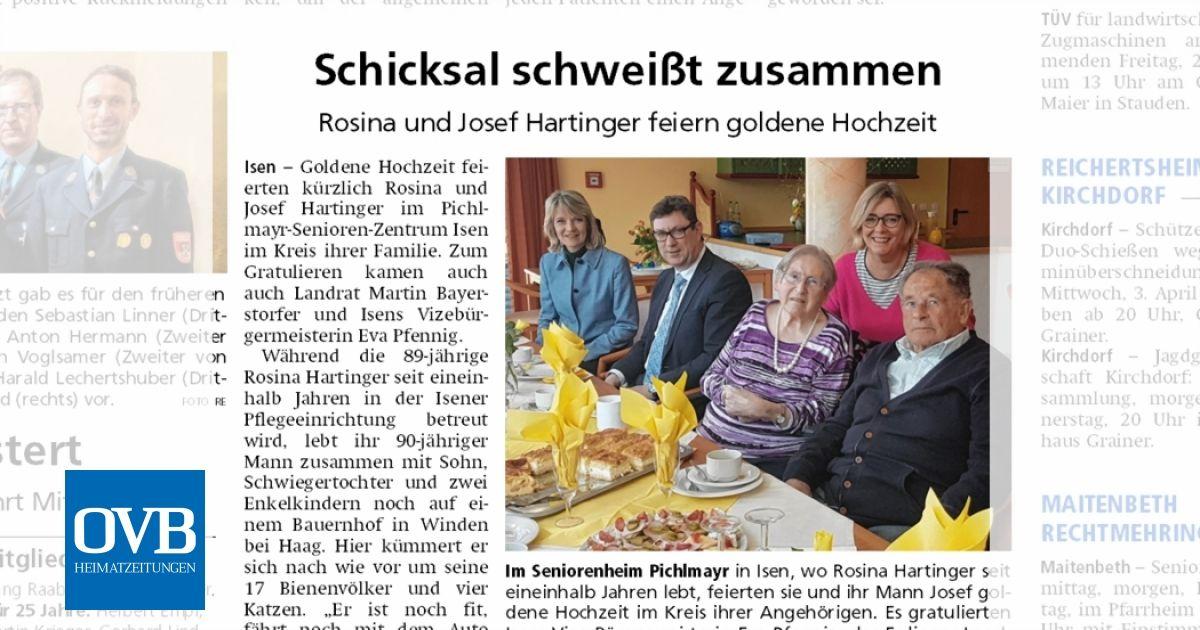 Schicksal Schweißt Zusammen Ovb Heimatzeitungen
