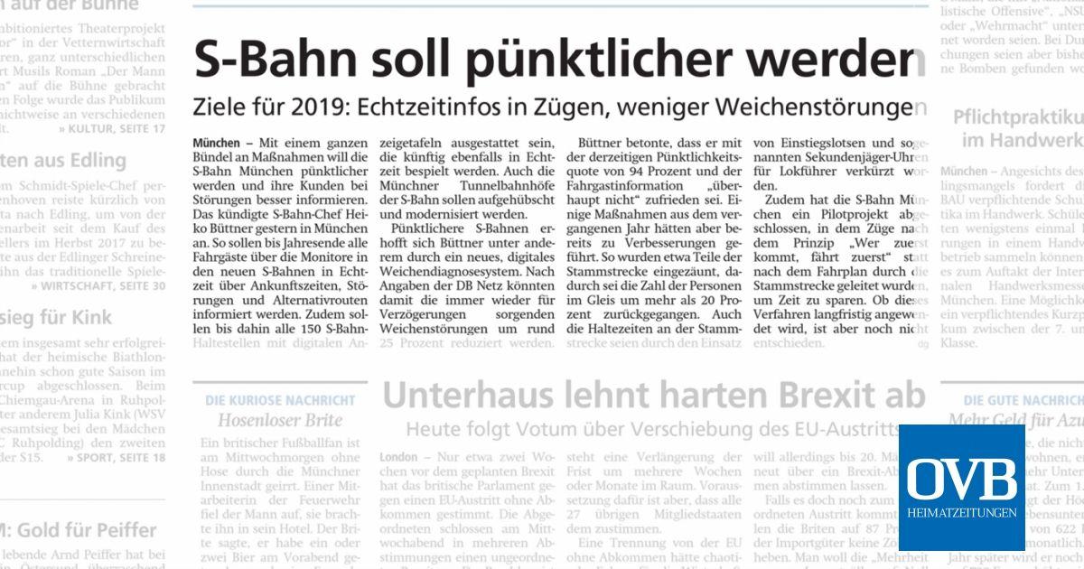 S Bahn Soll Pünktlicher Werden