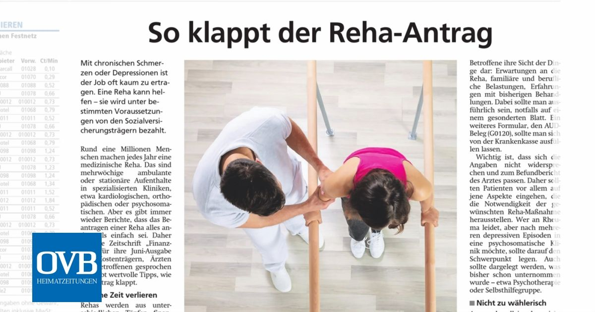 Reha Antrag Hinschicken Adresse