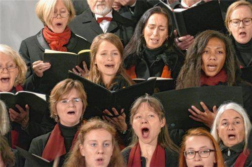 Hellwach und aufmerksam sang der Wasserburger Bach-Chor.Foto  Janka