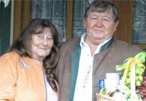 Jubilar Dieter Schreiner mit seiner Frau Gerda.Foto Kirchner