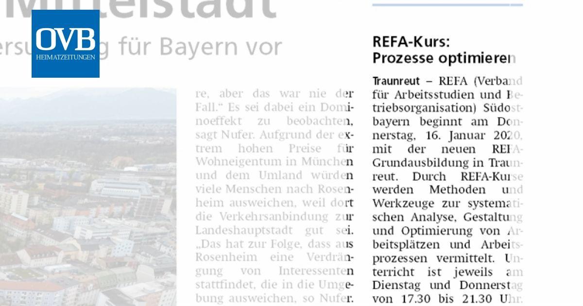 REFA-Kurs: Prozesse optimieren - OVB Heimatzeitungen