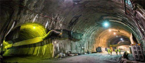 Unterirdische Großbaustelle: Der Brennerbasistunnel, hier in Tirol. Doch wie soll der Zulauf auf bayerischer Seite aussehen? Foto  dpa