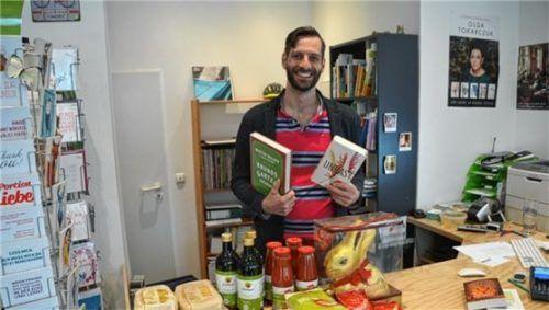 Bücher und Lebensmittel zu verkaufen, das hatte sich Johann Struck ausgedacht, um seinen Buchladen nicht zusperren zu müssen. Doch daraus wurde nichts.Foto RE