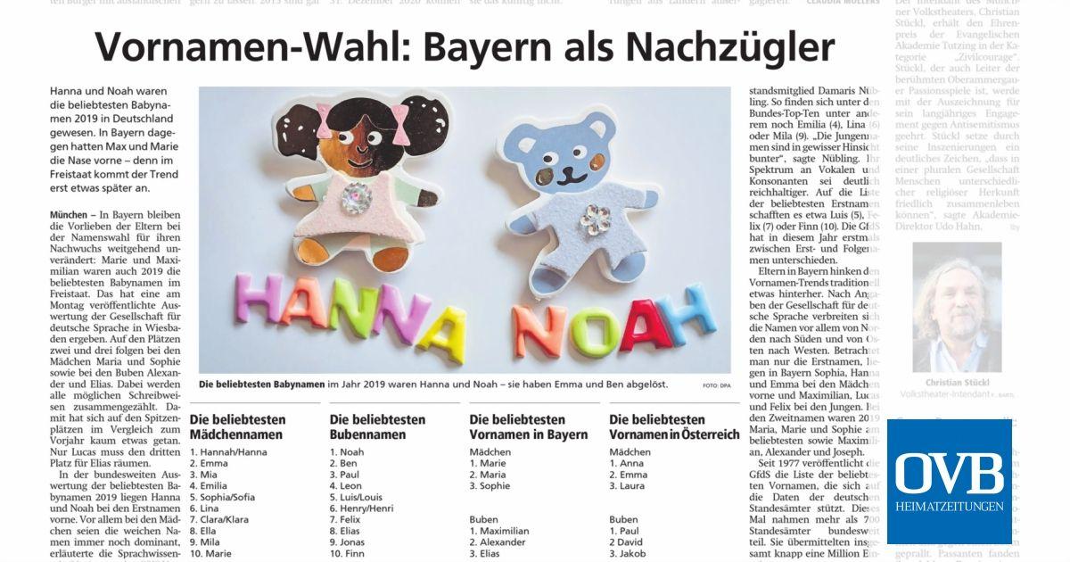 Vornamen Bayern