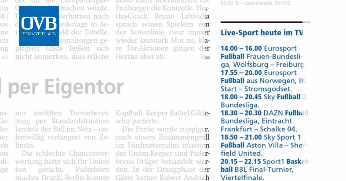sport heute im tv