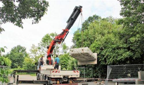 Die Mauern und Metallkonstruktionen wurden letzte Woche geliefert.