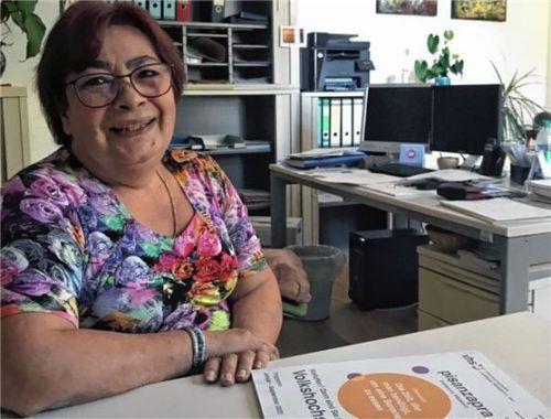 Sie hofft auf eine Rückkehr zur Normalität: VHS-Geschäftsstellenleiterin Brigitte Perzl. Foto  Petzi