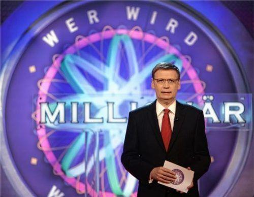 Dauerbrenner in der deutschen TV-Landschaft: Seit 1999 wird die Quizshow mit Moderator Günther Jauch bei RTL ausgestrahlt. Foto dpa