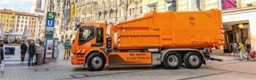 Der E-Truck kann verschiedene Container aufnehmen. Foto Volvo Trucks